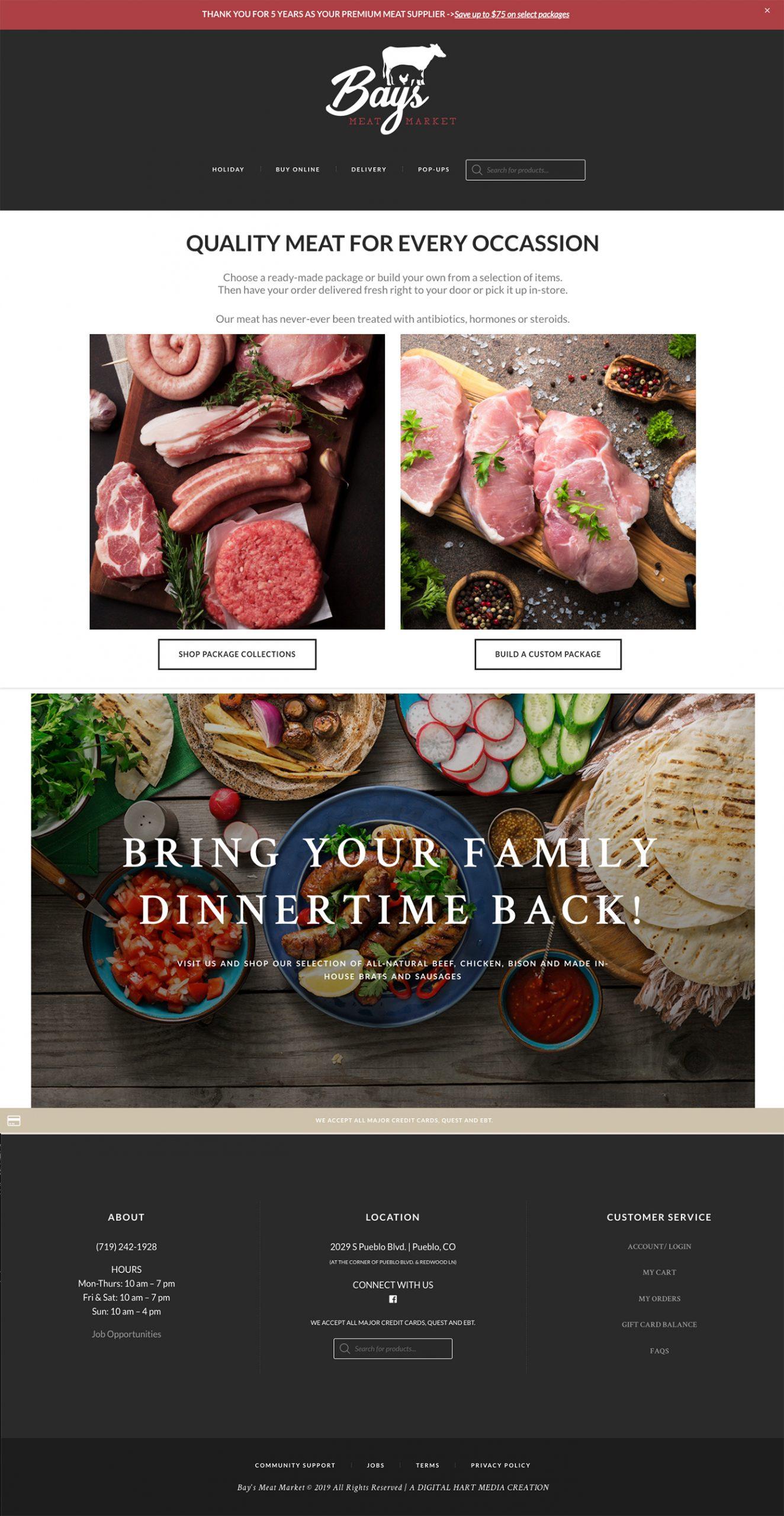 Bays Meat Market Website
