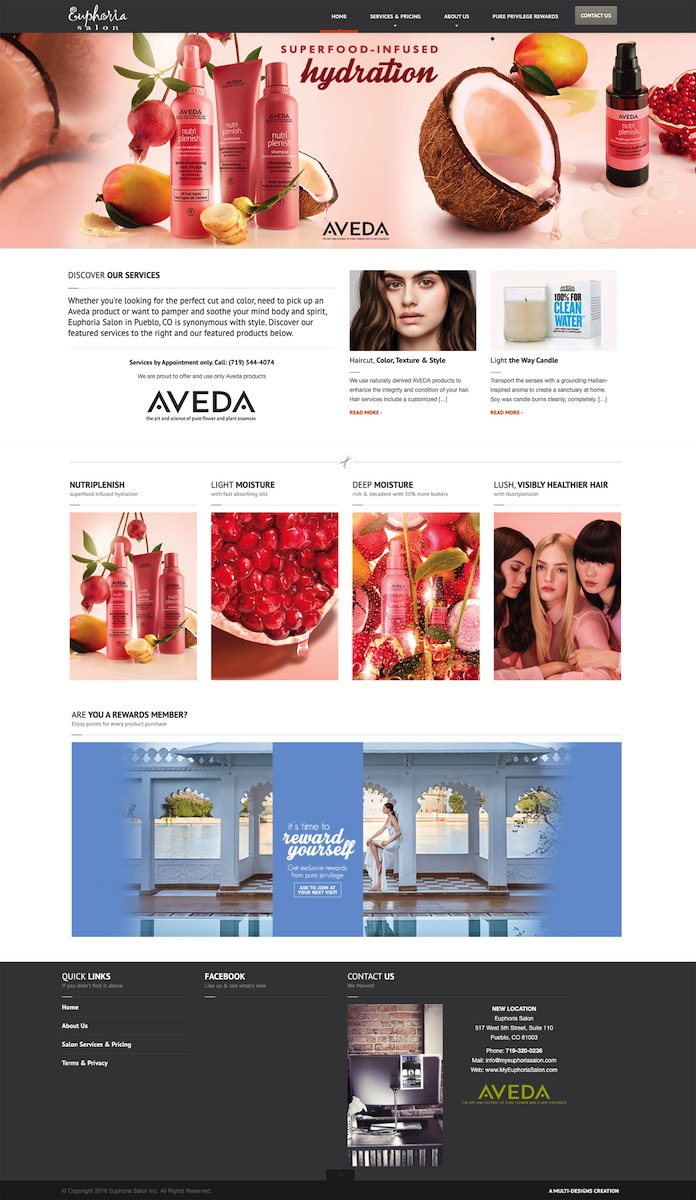Euphoria Salon Website