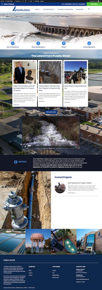 Pueblo Water Website