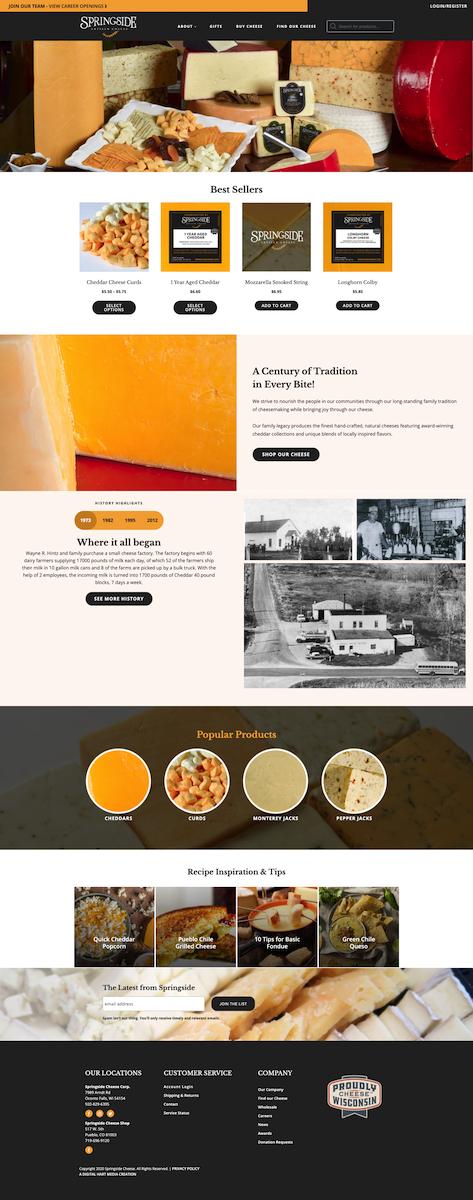 Springside Cheese Website